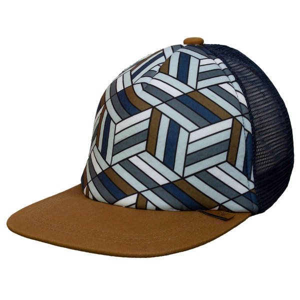 View larger image of Mesh Back Cap-Brown/Blue-L