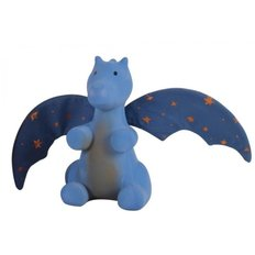 Natural Rubber Dragon Rattle with Crinkle Wings