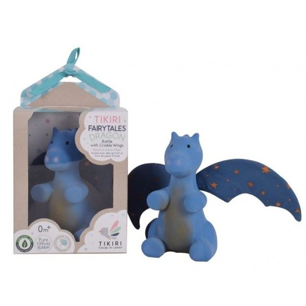 View larger image of Natural Rubber Dragon Rattle with Crinkle Wings