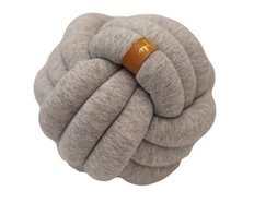 Mini Knot Pillow Light Grey