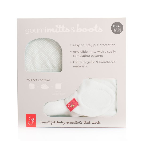 View larger image of Mitts & Boots Set - Diamond Dots-0-3M