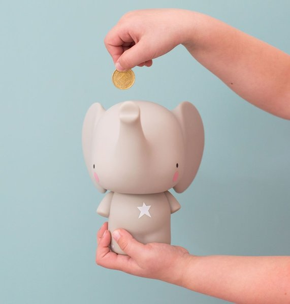 View larger image of Money Box - Grey Elephant