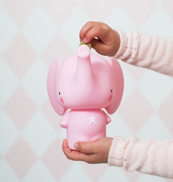View larger image of Money Box - Pink Elephant