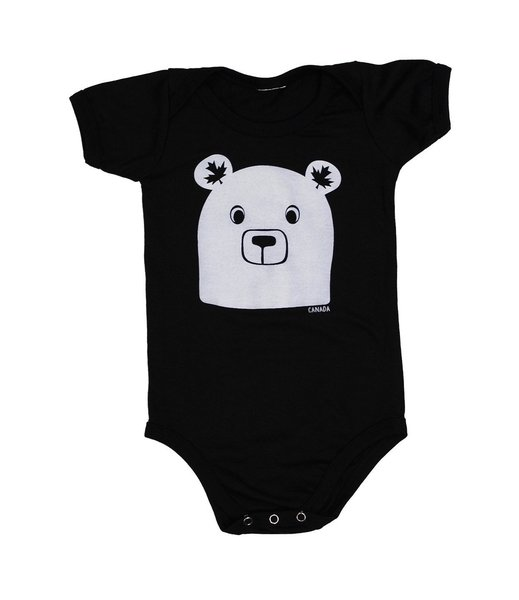 View larger image of Bear Face Onesie - Black