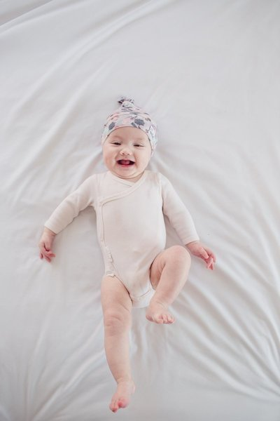 View larger image of Copper Pearl Newborn Top Knot Hat - Morgan