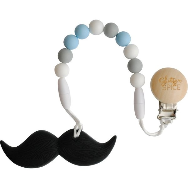 View larger image of Moustache Teether - Noah