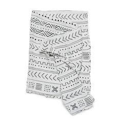 Luxe Muslin Swaddle - Mudcloth White