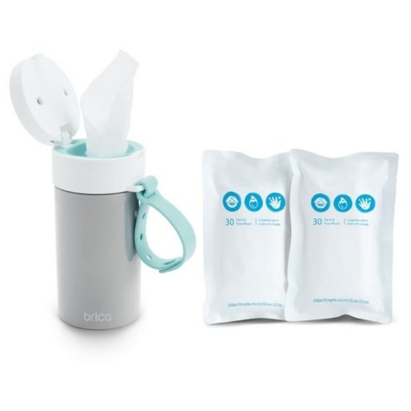 View larger image of Brica Clean-To-Go Wipes Starter Pack