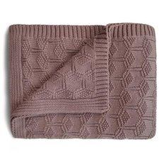 Knitted Honeycomb Baby Blanket