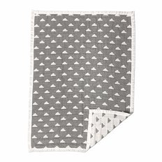 Muslin Jacquard Blanket - Grey Cloud