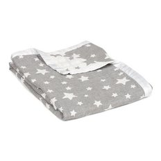 Muslin Jacquard Blanket - Grey Star