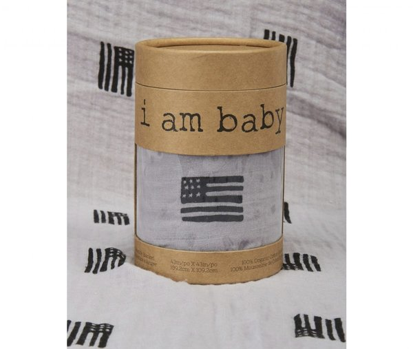 View larger image of Muslin Swaddle - American Black/Grey