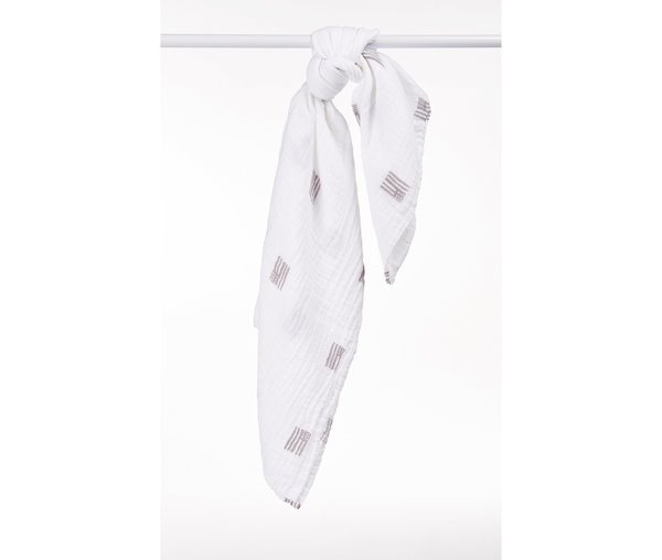 View larger image of Muslin Swaddle - American - Grey
