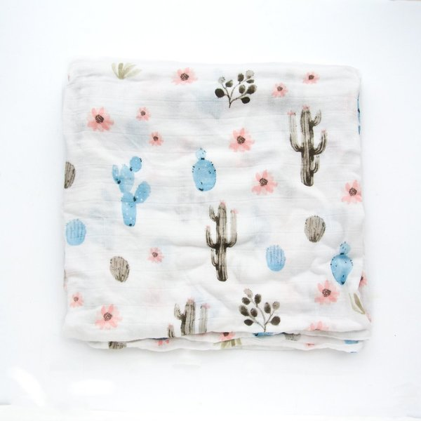 View larger image of Luxe Muslin Swaddle - Cactus