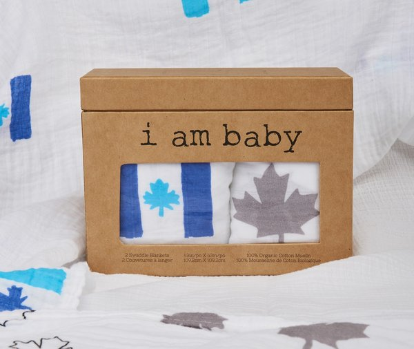 View larger image of Muslin Swaddle - Maple Leaf - 2 Pack