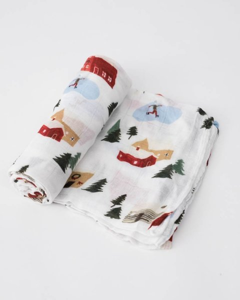 View larger image of Muslin Swaddle Deluxe - Winter Village