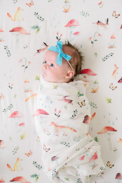 View larger image of Luxe Muslin Swaddle - Gnome
