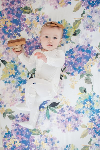 View larger image of Luxe Muslin Swaddle - Hydrangea