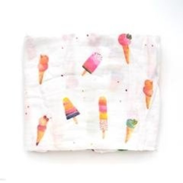 View larger image of Luxe Muslin Swaddle - Ice Cream