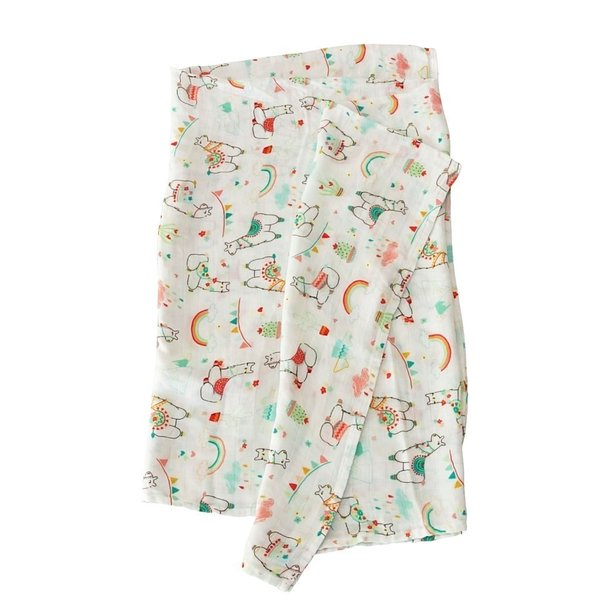 View larger image of Luxe Muslin Swaddle - Llama