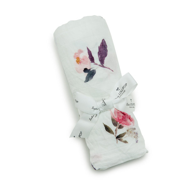 View larger image of Luxe Muslin Swaddle - Pink Peony