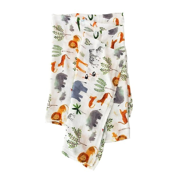 View larger image of Luxe Muslin Swaddle - Safari