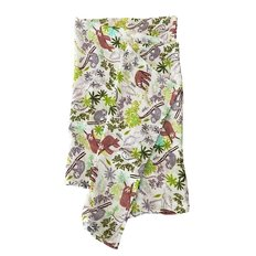 Luxe Muslin Swaddle - Sloth