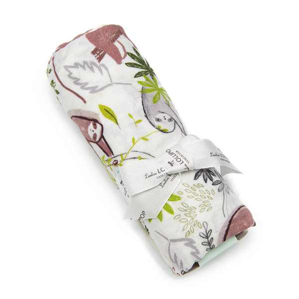 View larger image of Luxe Muslin Swaddle - Sloth