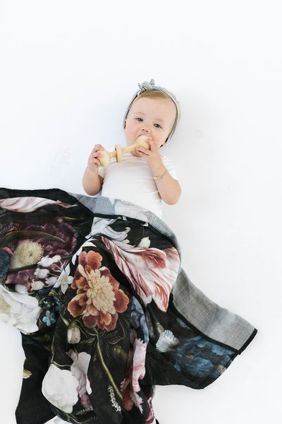 View larger image of Luxe Muslin Swaddle - Tuscan Floral