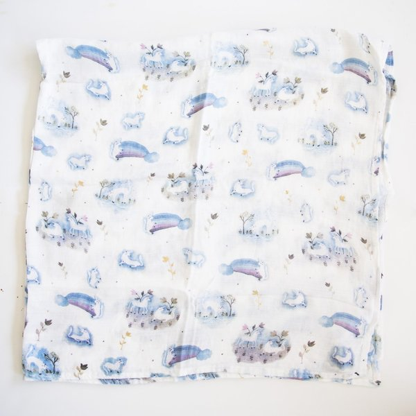 View larger image of Luxe Muslin Swaddle - Unicorn