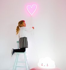 Neon Light - Heart - Pink