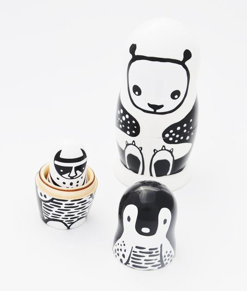 View larger image of Nesting Dolls - Black & White Animals