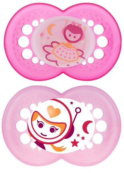 View larger image of Glow in the Dark Pacifier - 6 Months + - Pink