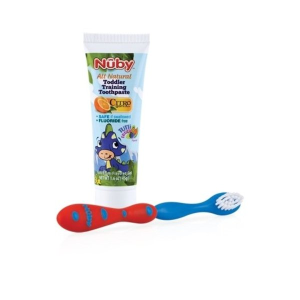View larger image of Toothpaste with Toddler Training Toothbrush