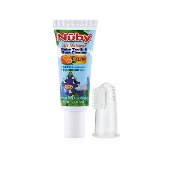 View larger image of Tooth and Gum Cleaner with Finger Brush