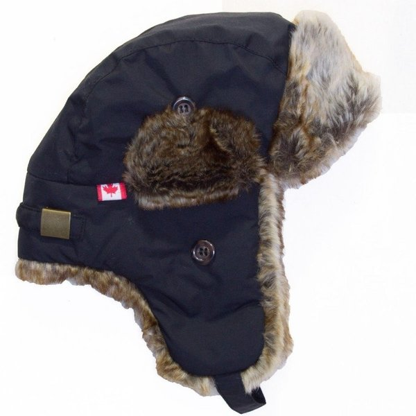 View larger image of Nylon Trapper Hat - Black