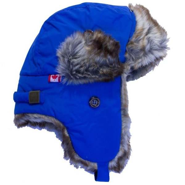 View larger image of Nylon Trapper Hat-Blue-L