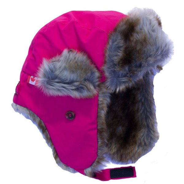 View larger image of Nylon Trapper Hat-Pink-L