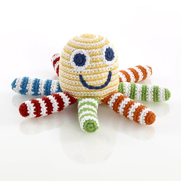 View larger image of Octopus Rattle - Yellow