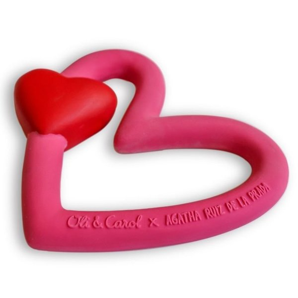 View larger image of Agatha The Heart Teether and Bath Toy