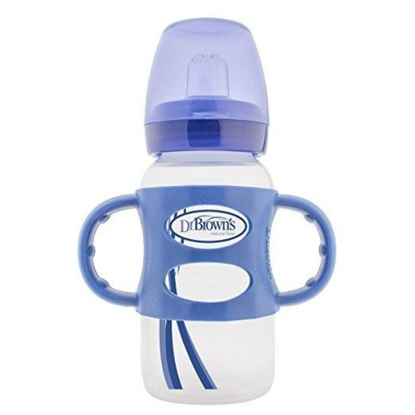 View larger image of Options 9oz Wide-Neck Sippy Spout Bottle - Blue