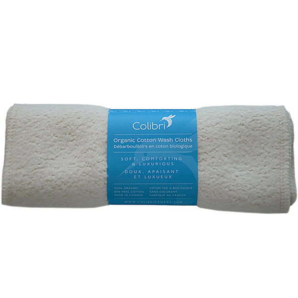 View larger image of Organic Cotton Sherpa Wash Cloths – 5 pack