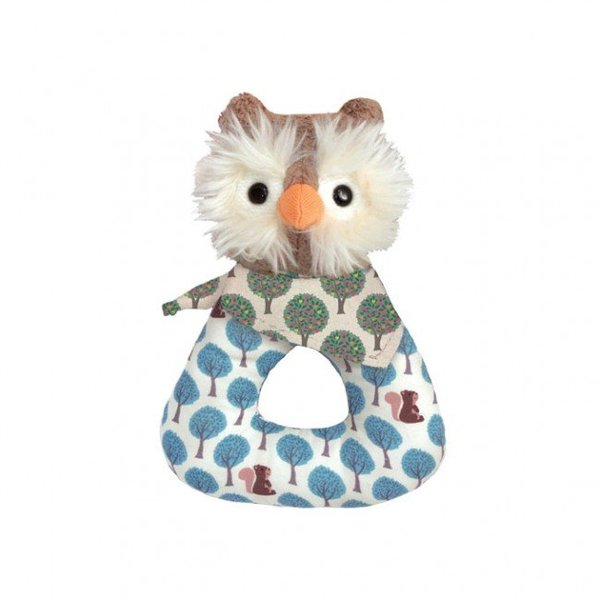 View larger image of Organic Pattern Rattle-Owl