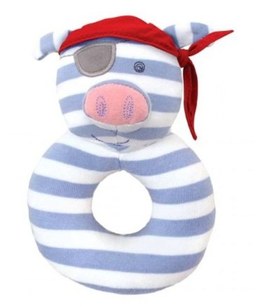 View larger image of Organic Rattle-Pirate Pig