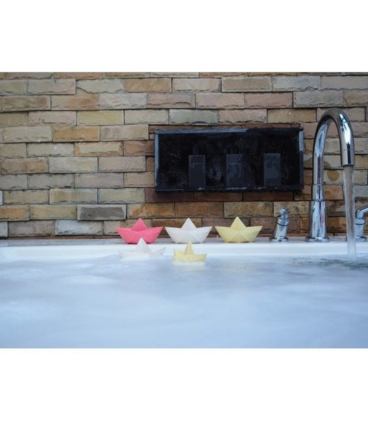 View larger image of Origami Boat Bath Toy - Pink
