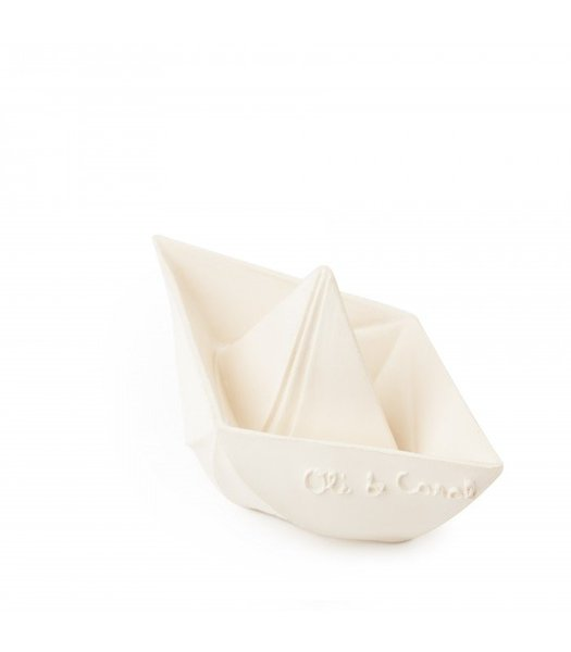View larger image of Origami Boat Bath Toy - White