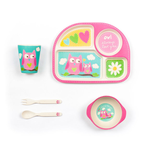 View larger image of Owl Dinner Set