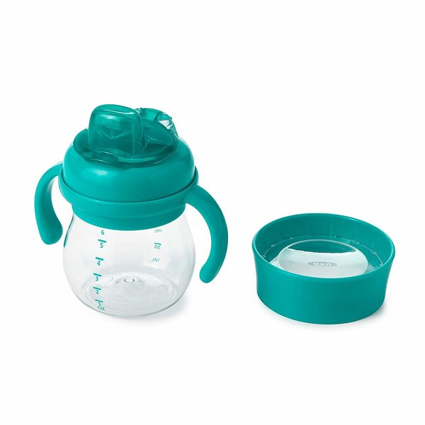 View larger image of Transition Soft Sippy Cup Set - 6oz - Teal