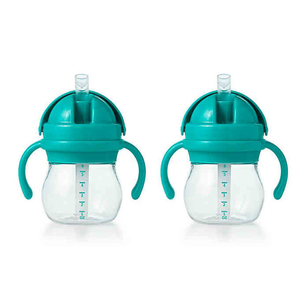 View larger image of Transitions Straw Cup w Handles (6 oz) - 2pk