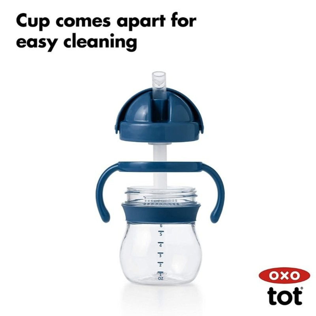 Oxo Tot Transitions Straw Cup W Handles 6 Oz 2pk